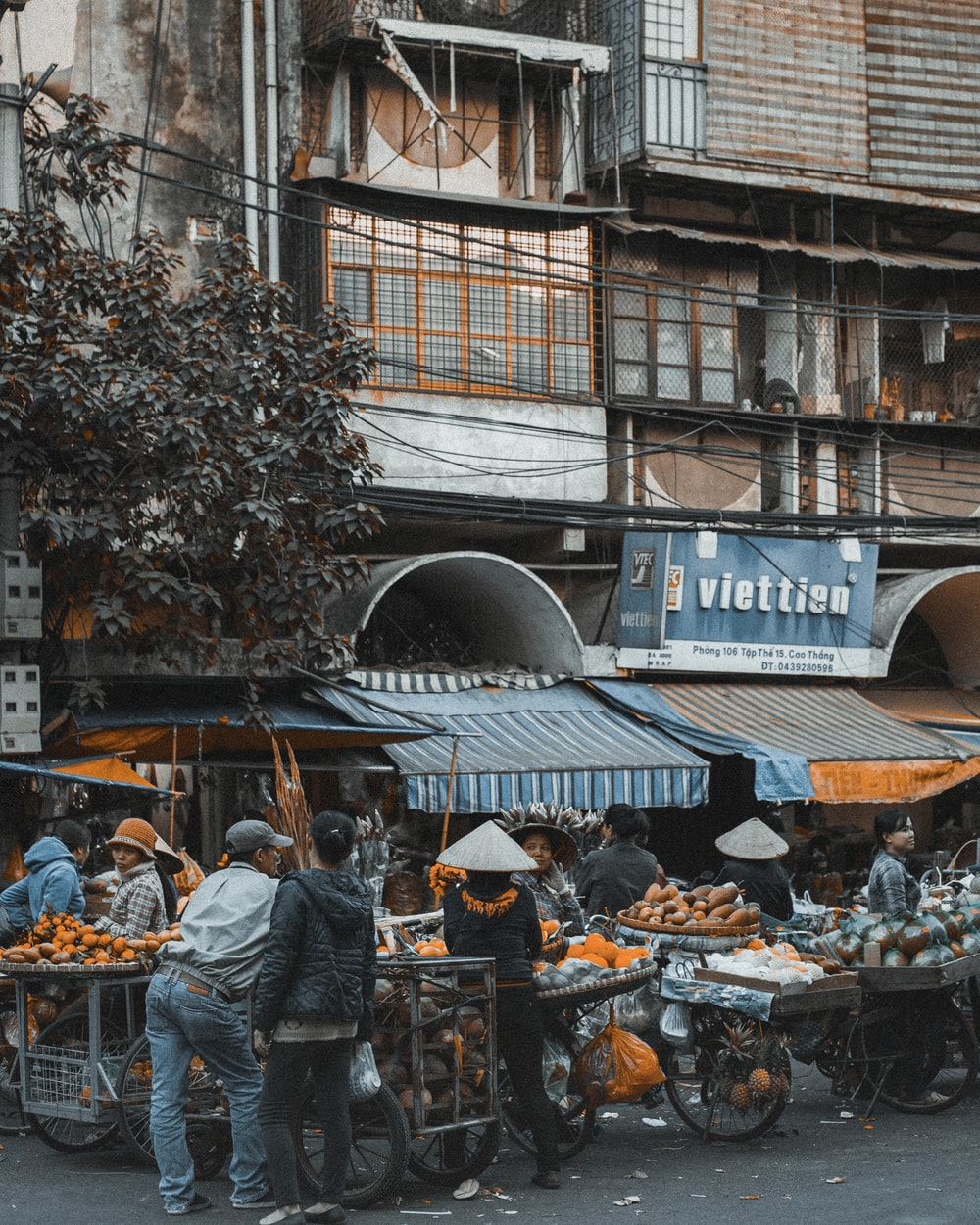 people in market during daytime