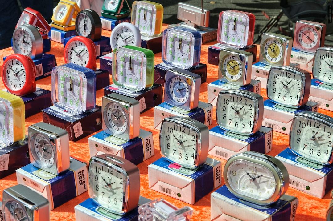 A range of alarm clocks