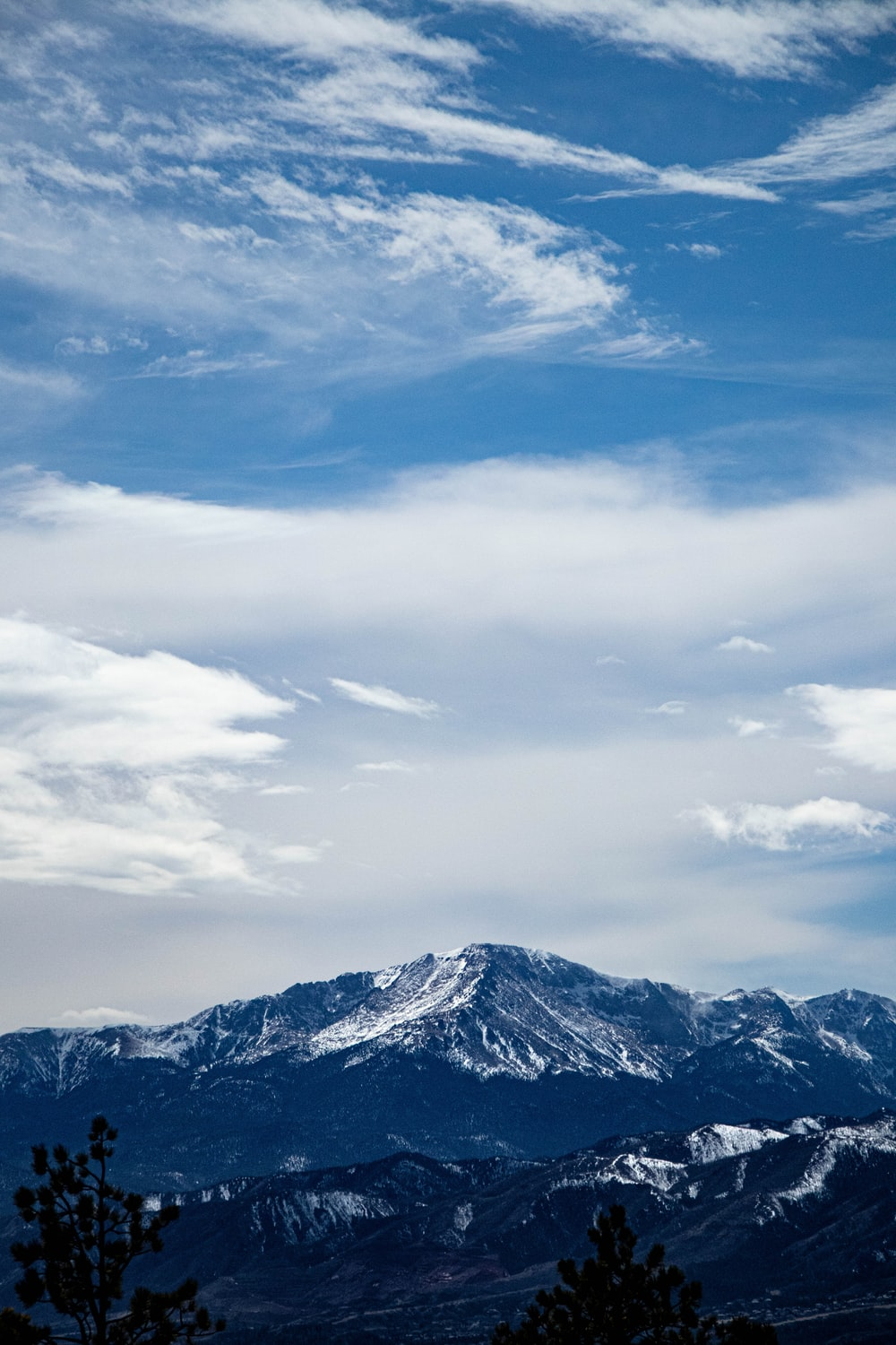 snow covered mountain under blue sky during daytime