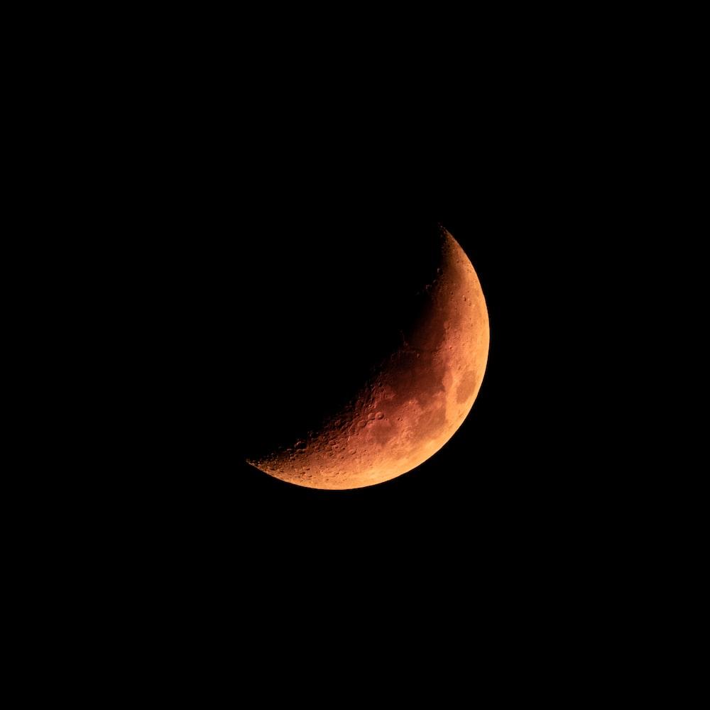 orange moon in the sky