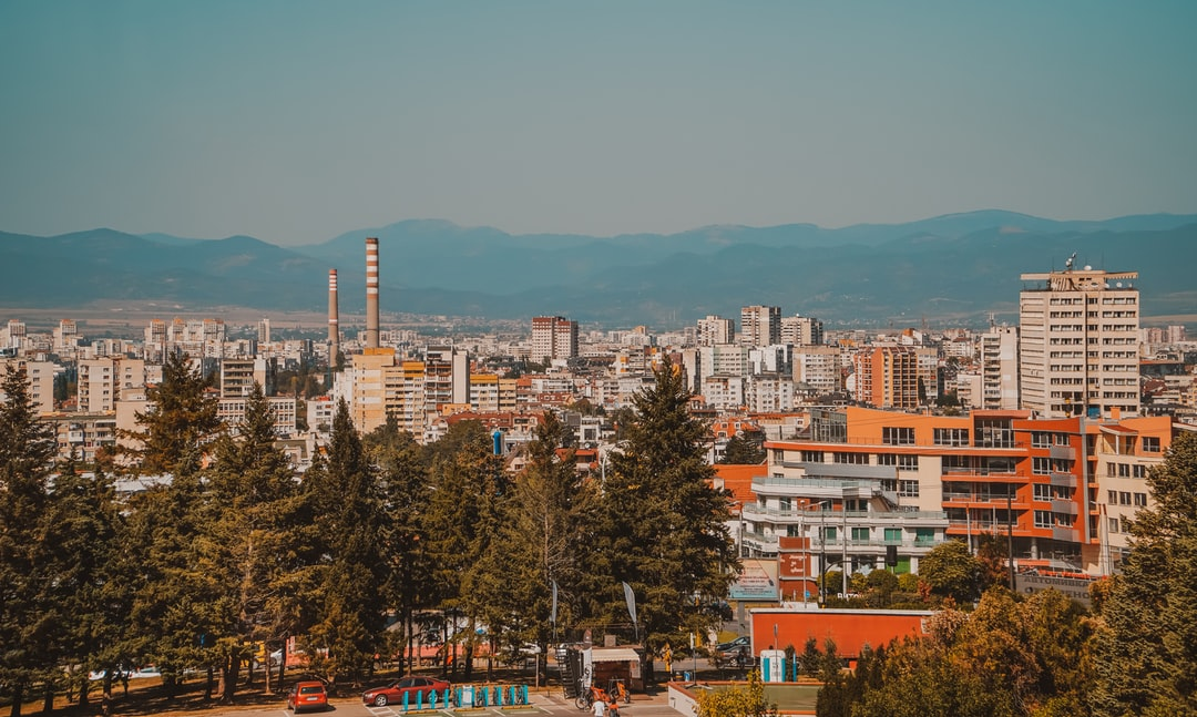 Sofia cityscape seen from the National Museum of Bulgarian History