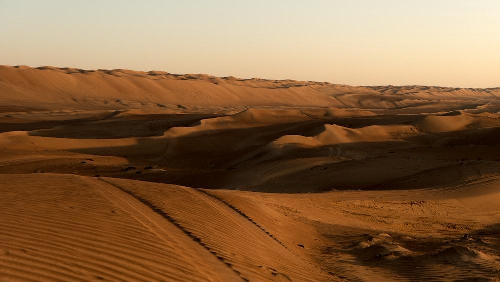 brown sand under white sky during daytime