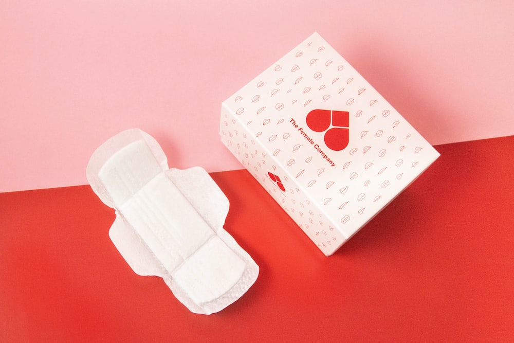 white and pink heart print box