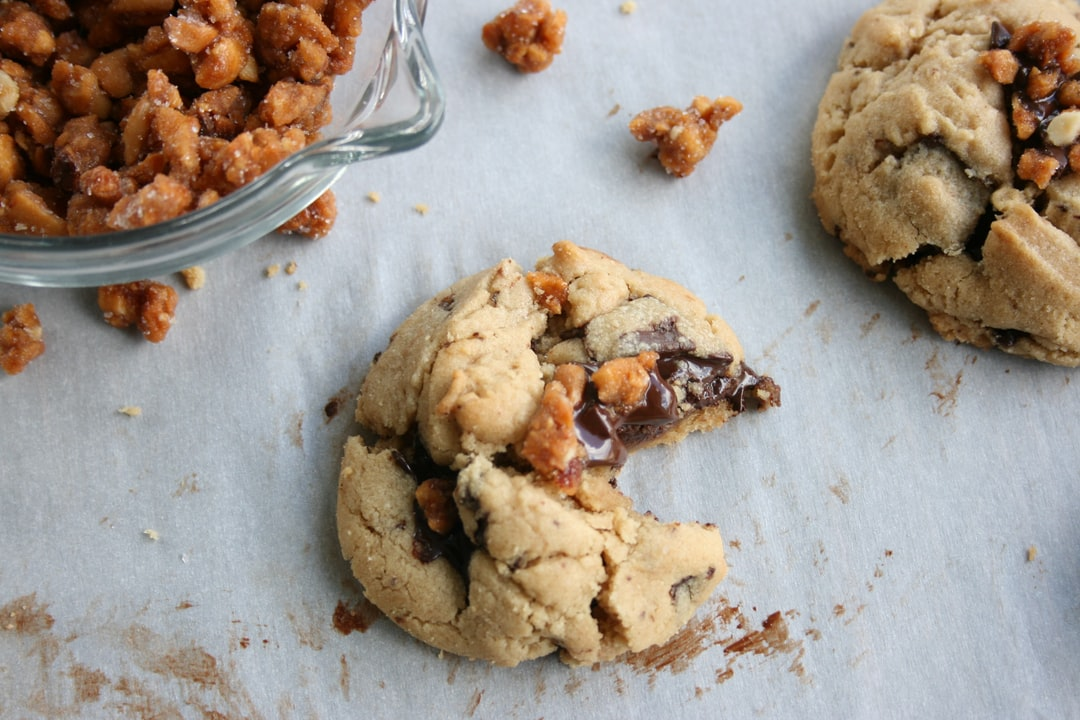 Chocolate Chip Cookies with Candied Nuts
