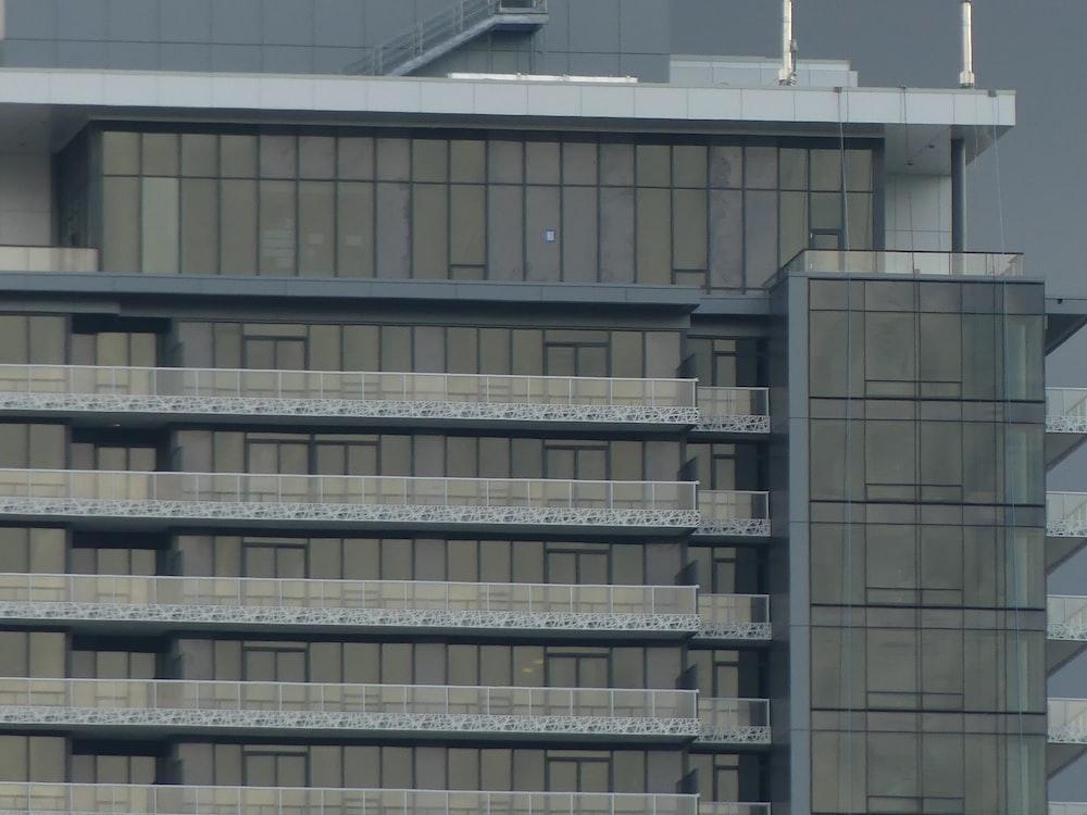 gray metal frame on gray concrete building
