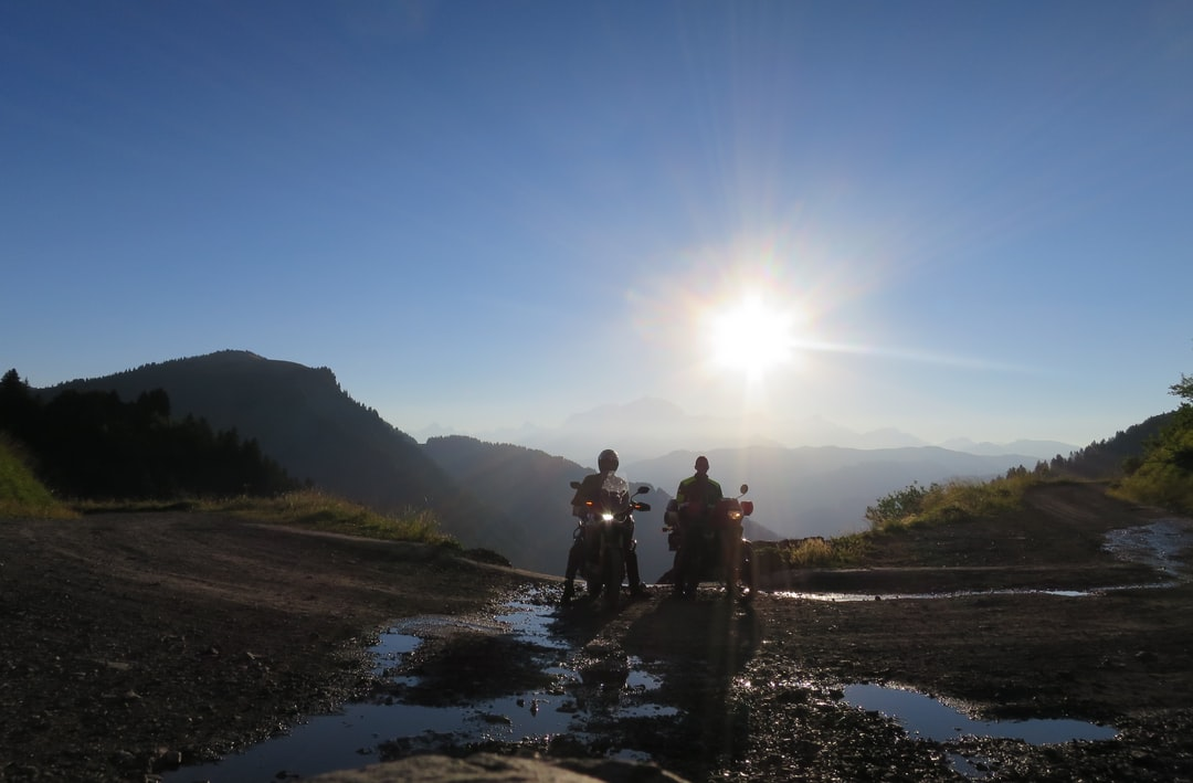 Off-road motorcycles in the French Alps