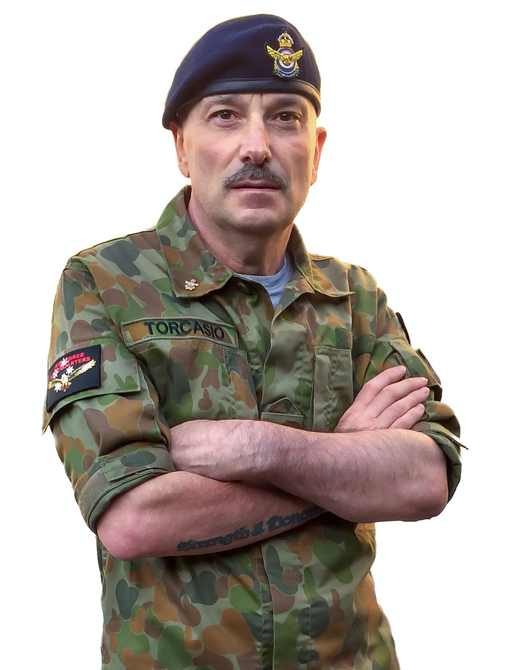 man in green camouflage army uniform