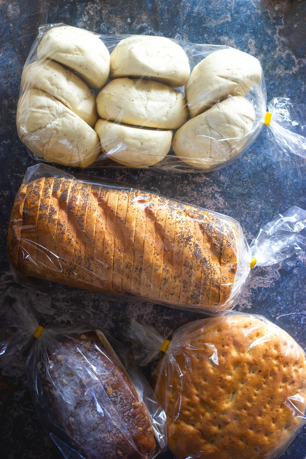 brown bread in clear plastic pack