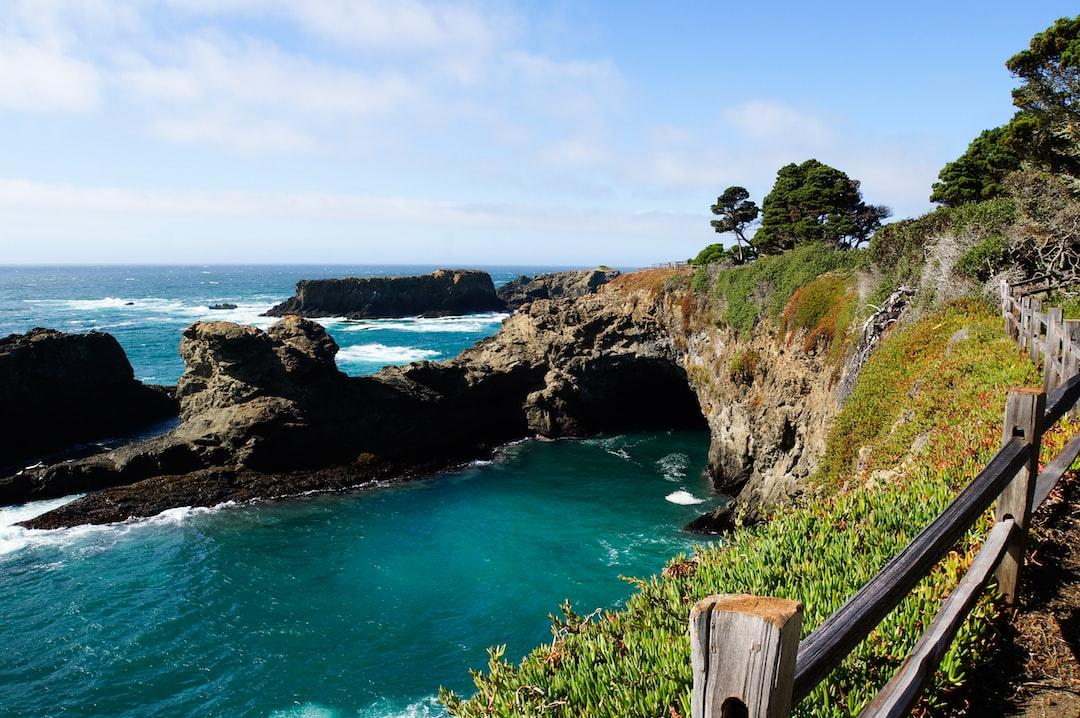 Ocean cliffs along California's North Coast