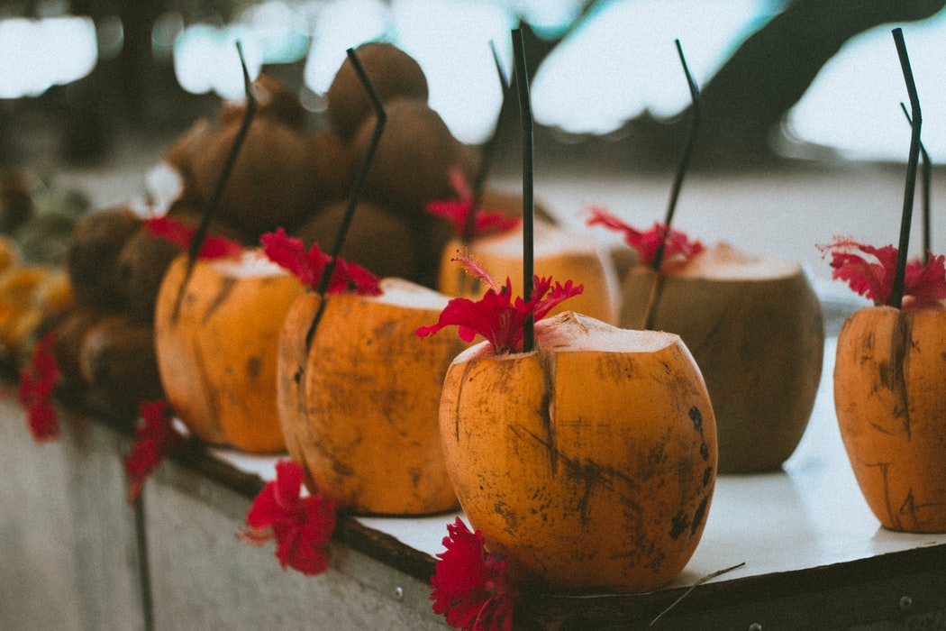 Orange coconuts