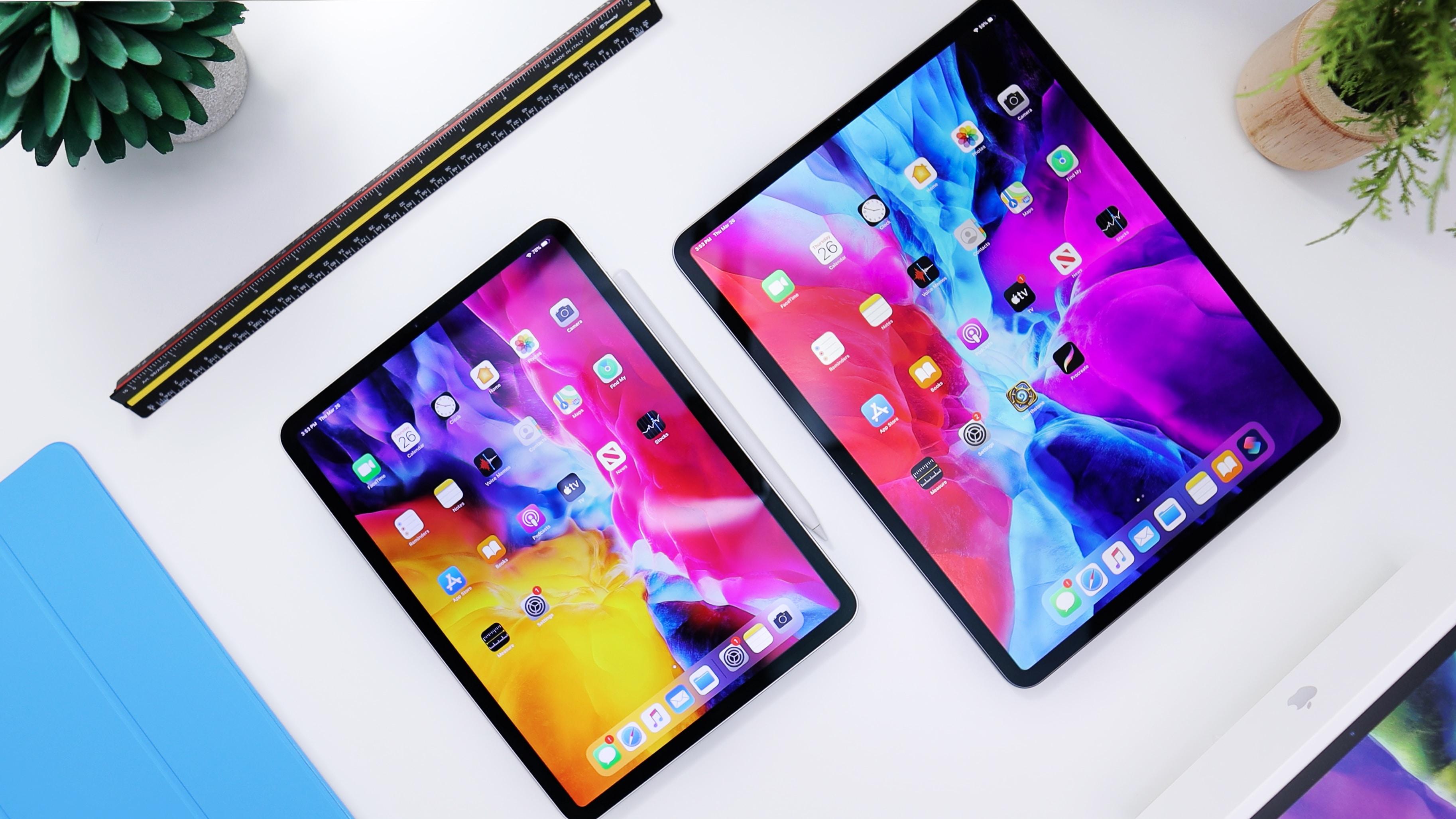 Porovnání velikosti iPadů