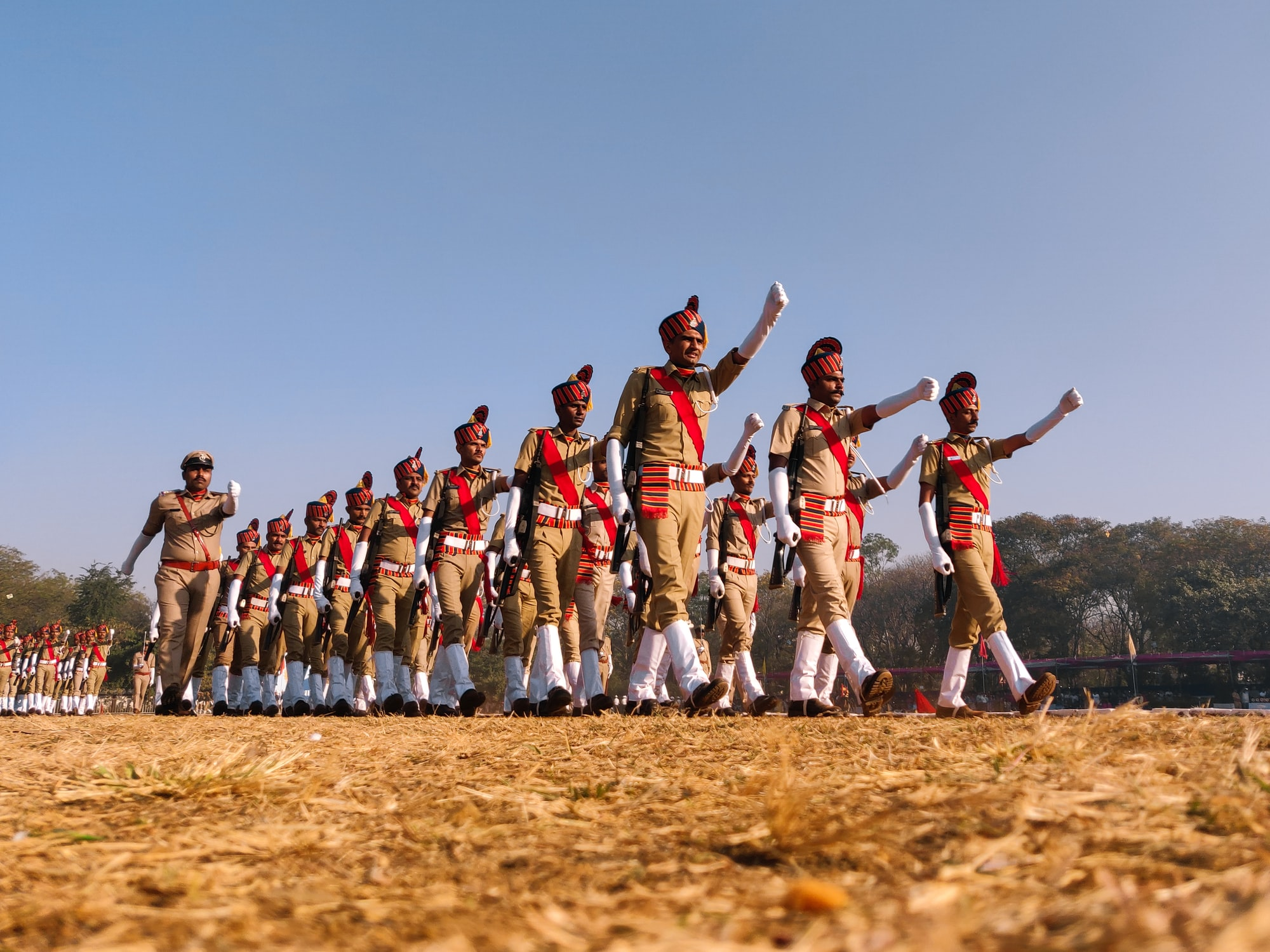 India  celebrating republic day with the parade