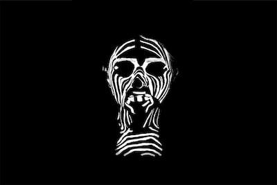 black and white zebra face illustration