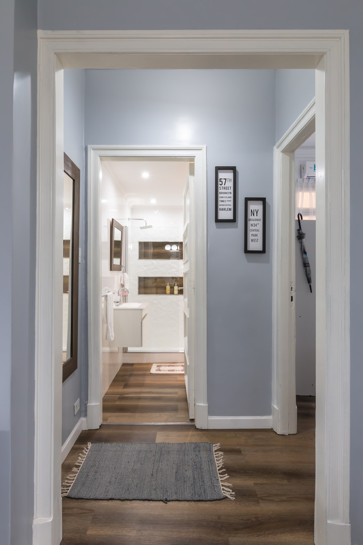 white wooden door near white wooden door