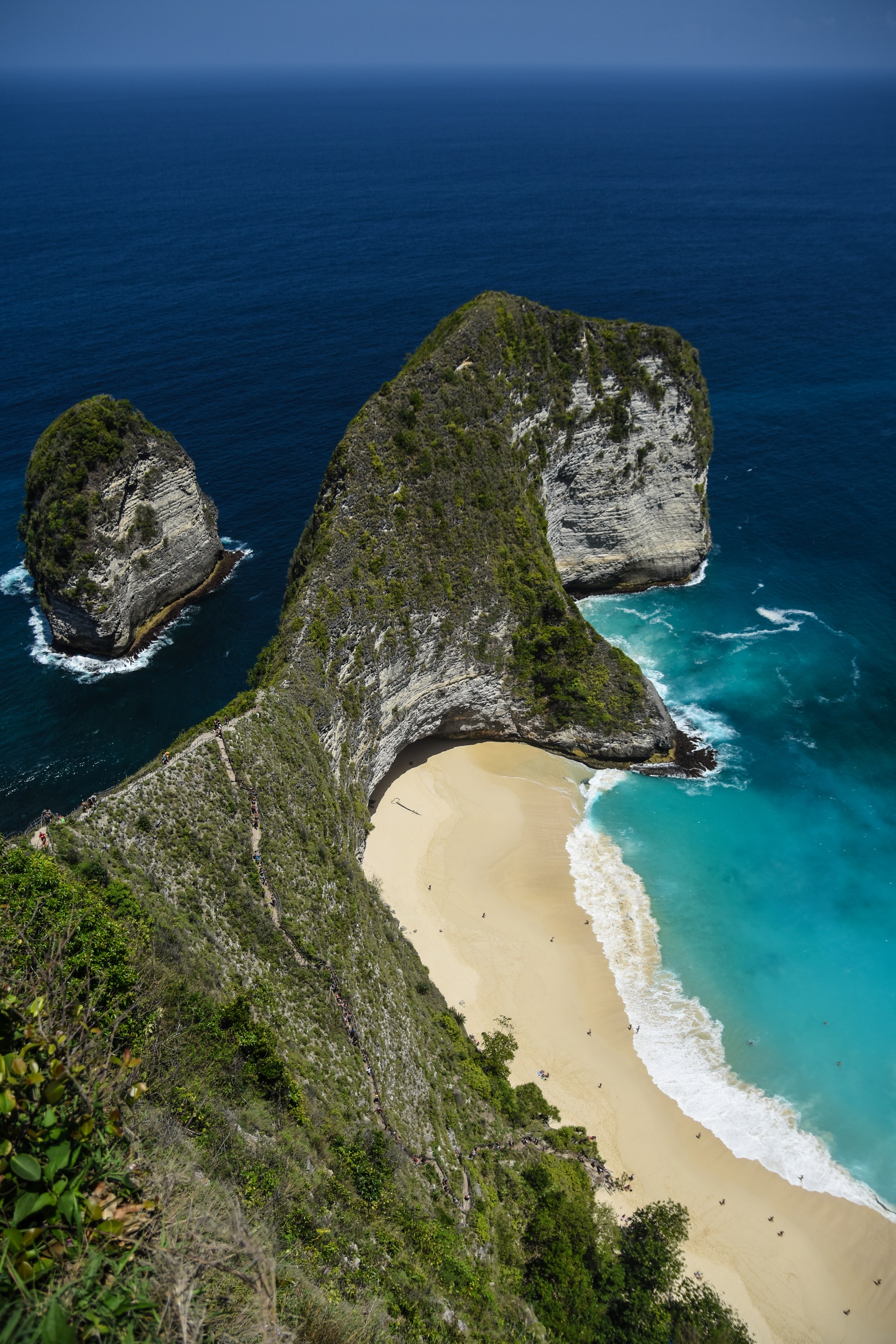 The T-rex beach (Kelingking) in Nusa Penida.