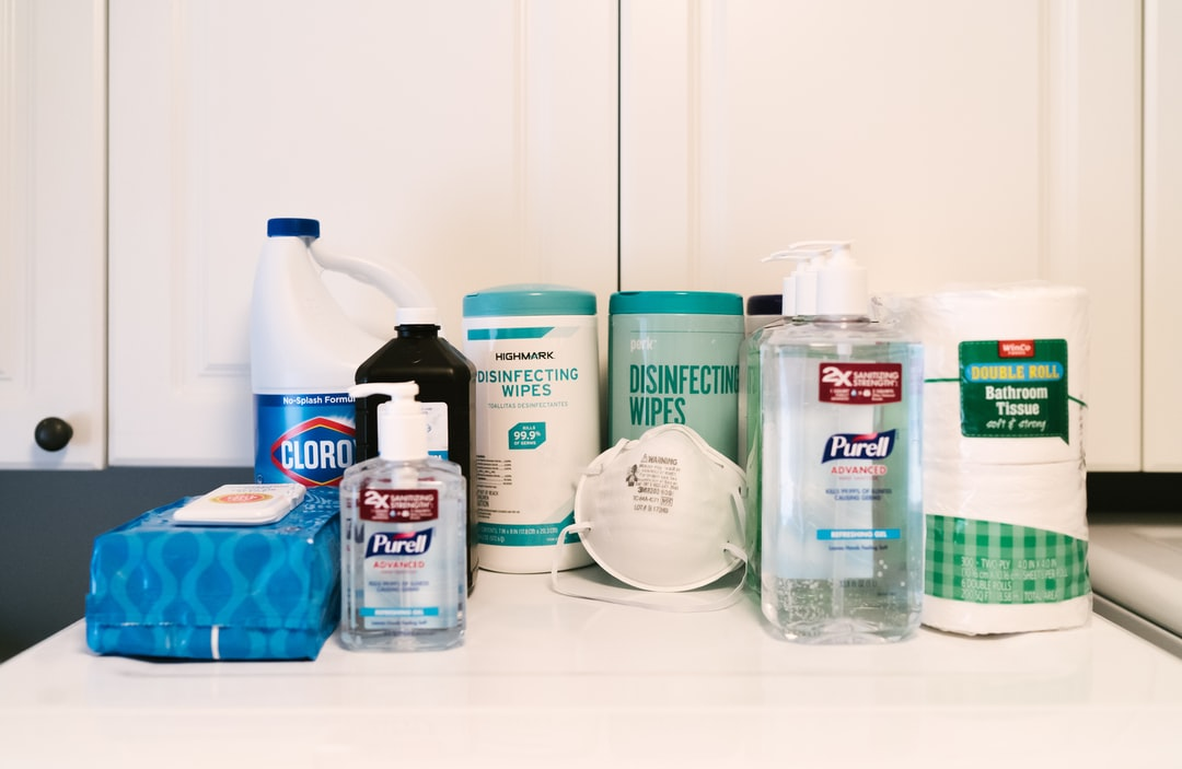 Disinfecting supplies for the pandemic