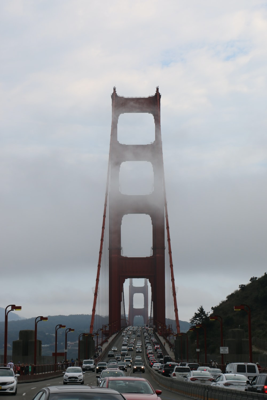 golden gate bridge under white clouds during daytime