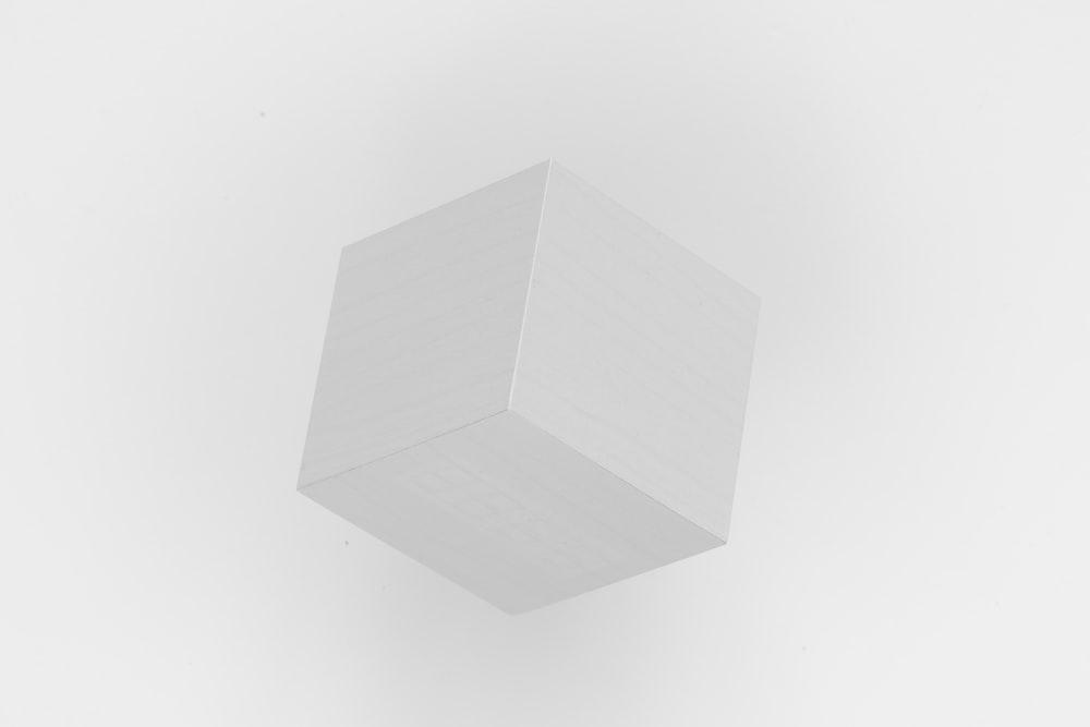 white square shape on white background