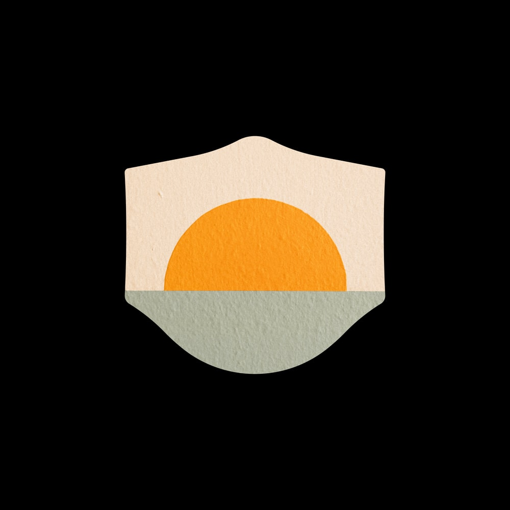 orange and white round logo