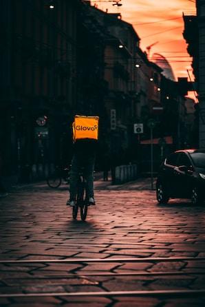 huelga de riders de Glovo en Barcelona