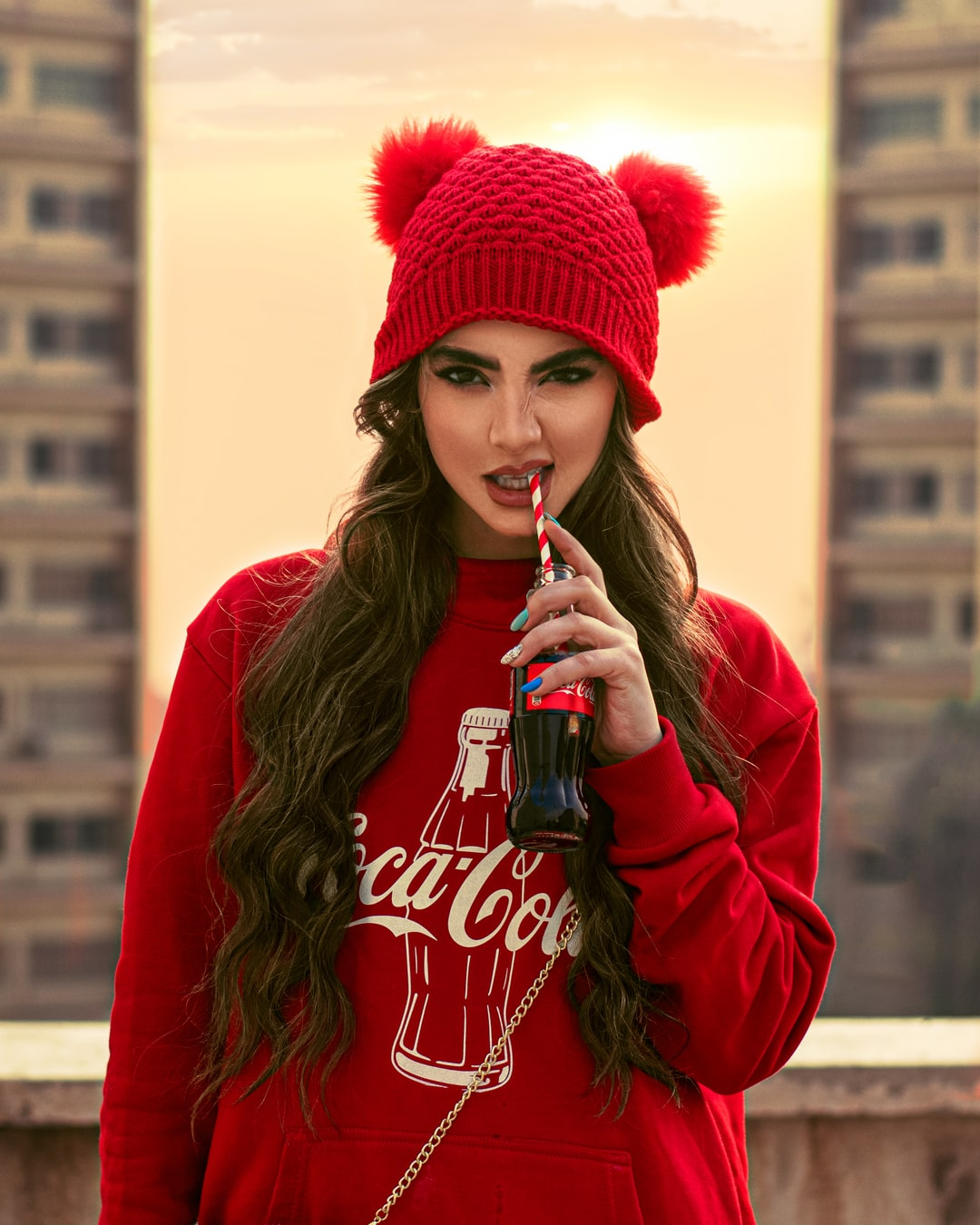 Persian girl with coca