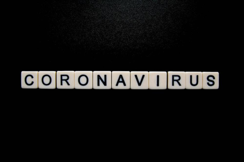 Coronavirus on black background