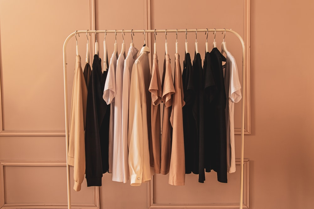 white and black long sleeve shirt