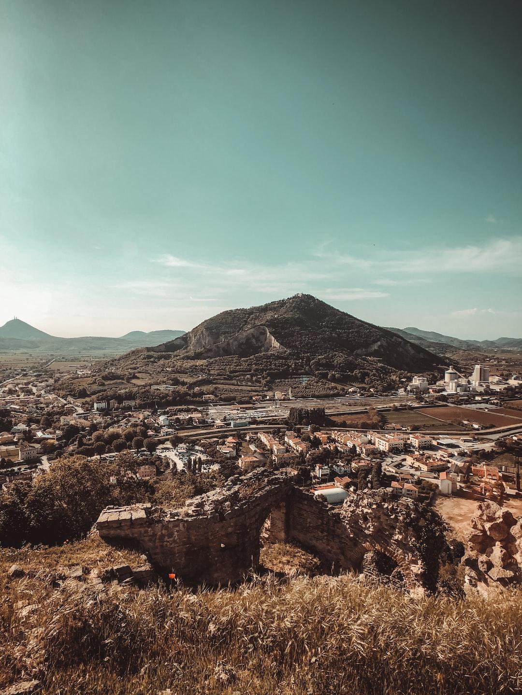 "Monte Ricco's view from ""La Rocca"", Monselice, Euganean hills."