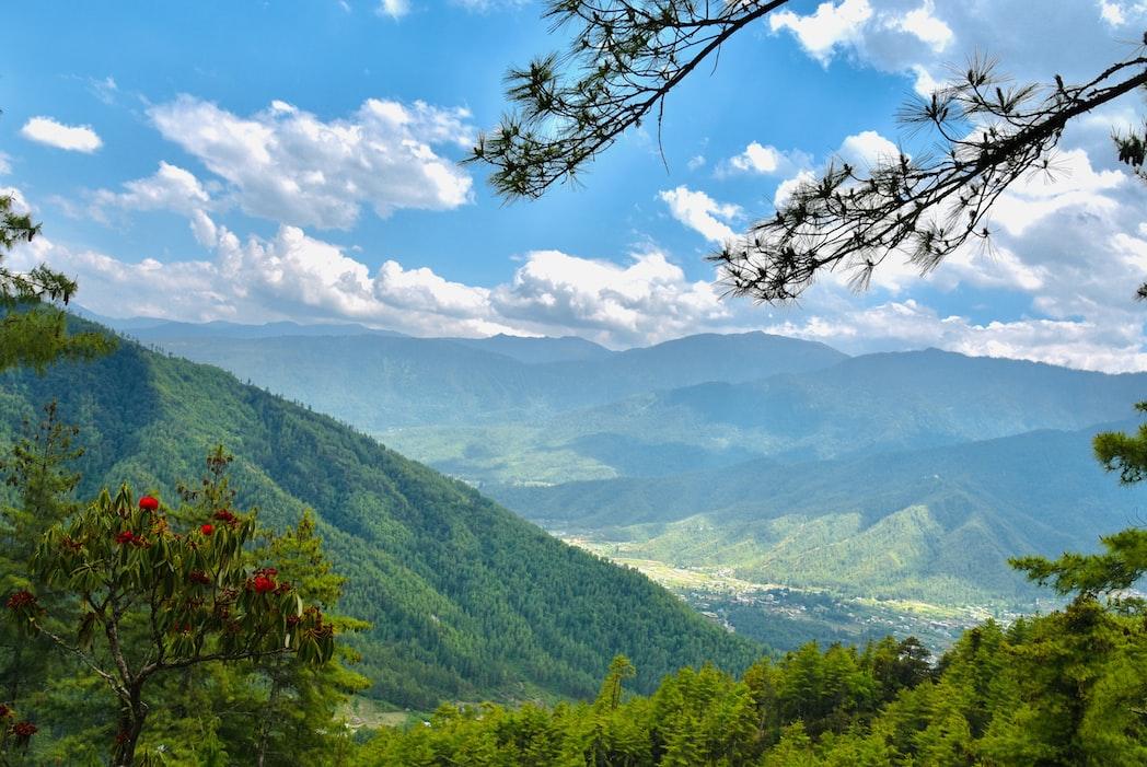 A view of Bhutan in Paro