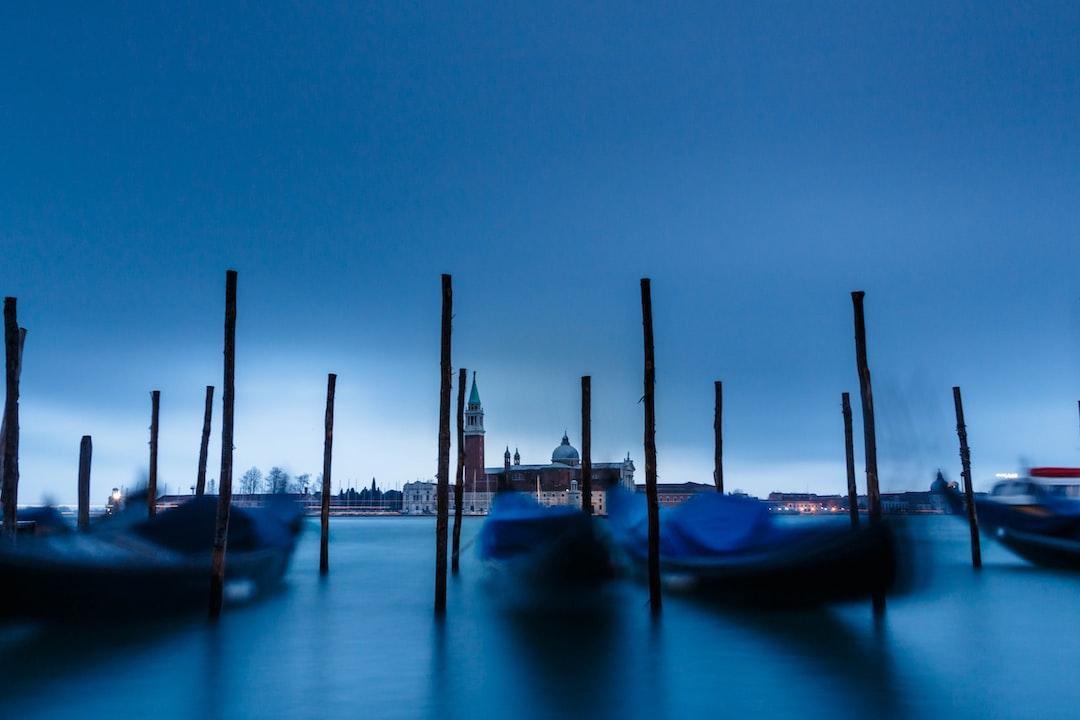 Gondolas of Venice, Italy Blue Hour Long Exposure - unsplash
