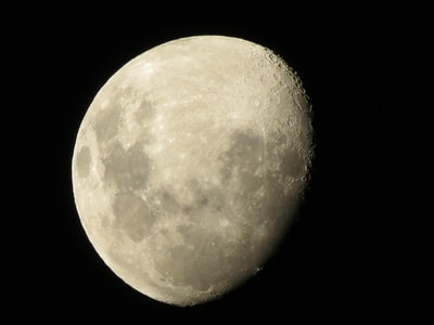 full moon in dark night sky outer-space zoom background