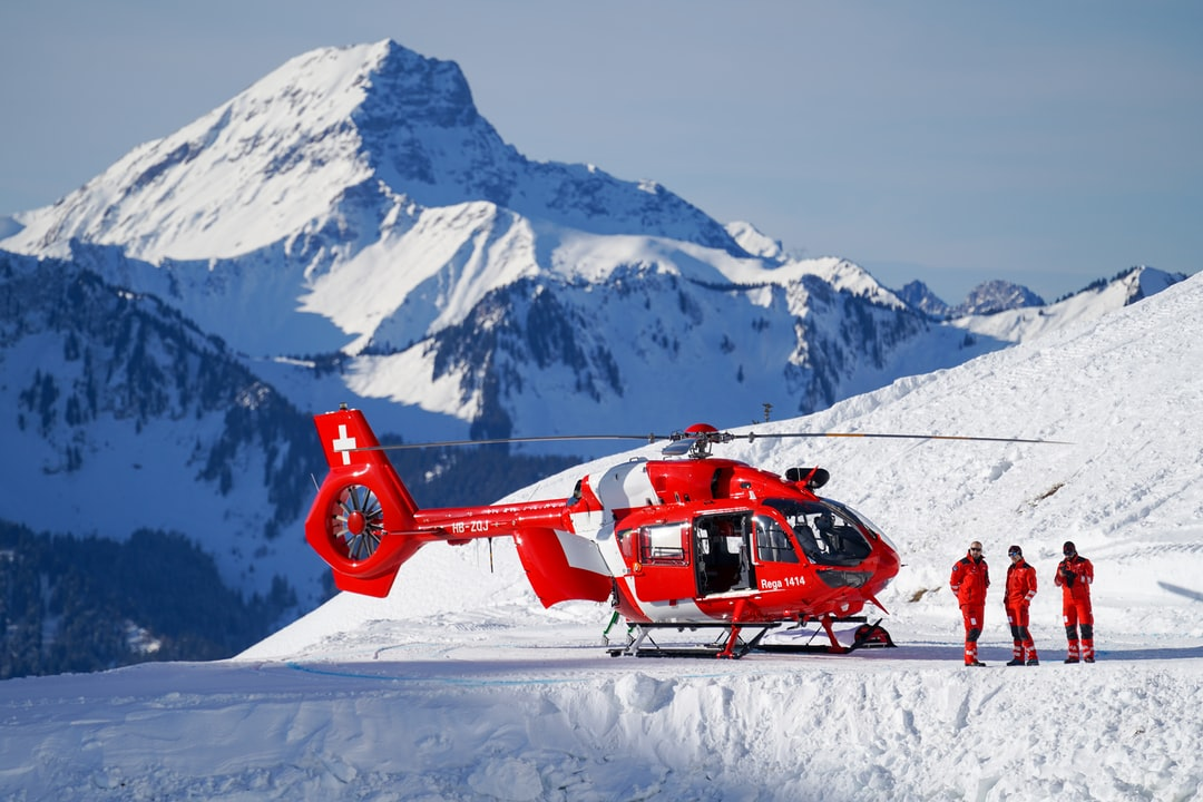 Rega Helicopter in Lausanne Olympic game
