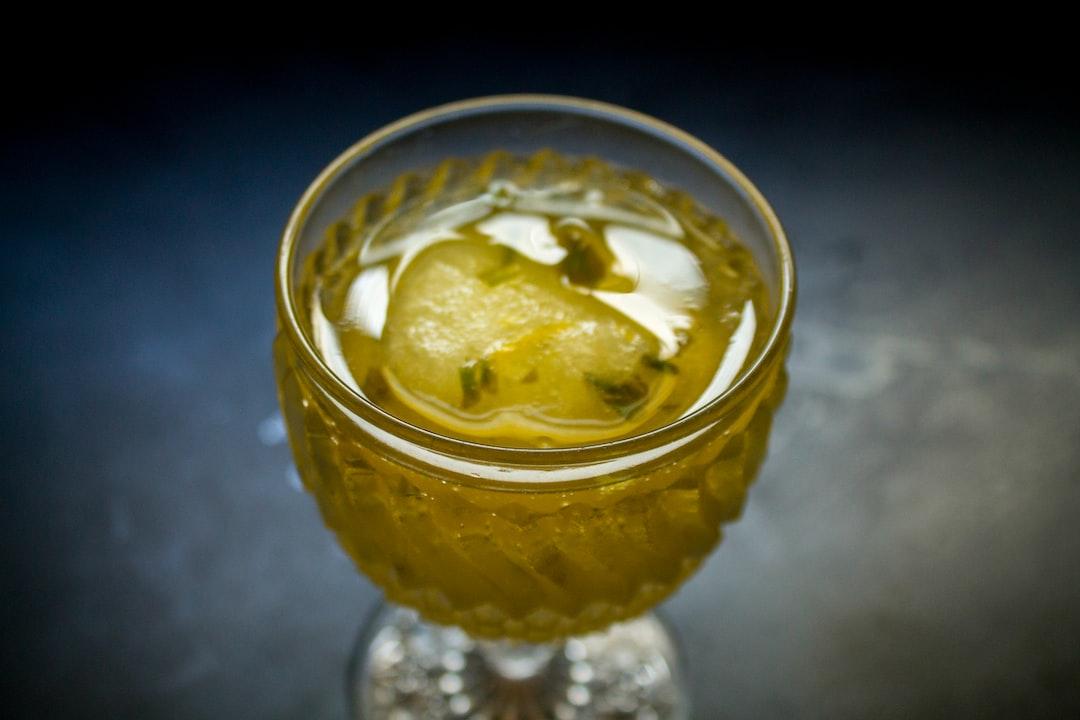Lemon basil sorbet cocktail in a vintage glass  https://found.fyi/2014/07/30/the-summer-of-sorbet-cocktails/