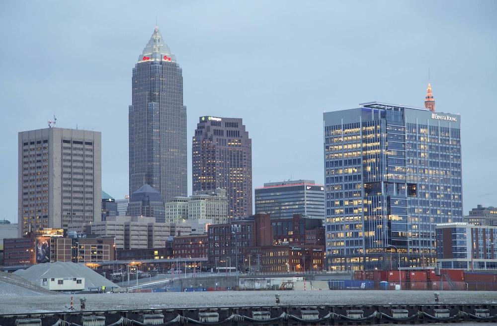 city skyline under white sky during daytime