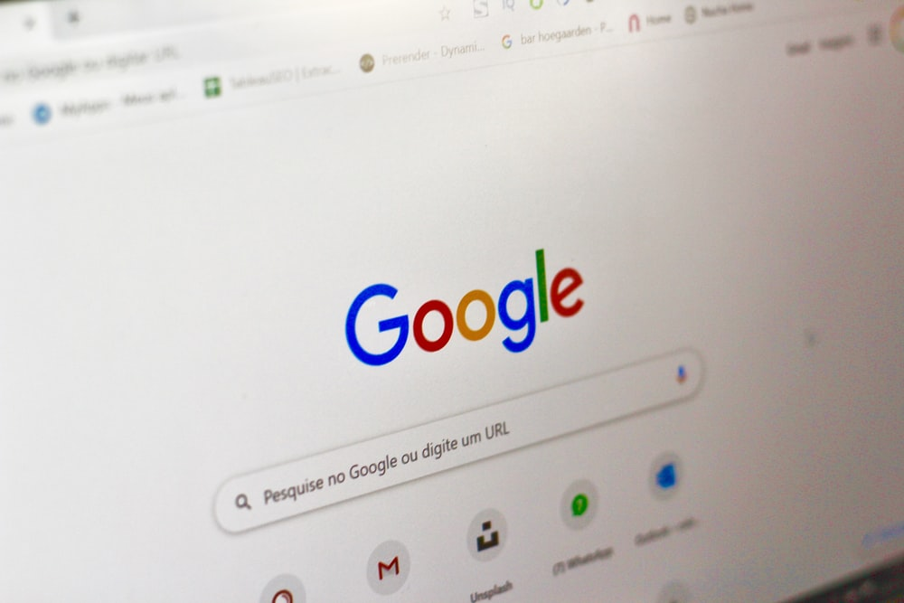 computer screen showing google search