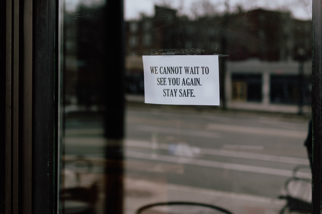 Restaurant closed sign - stay safe