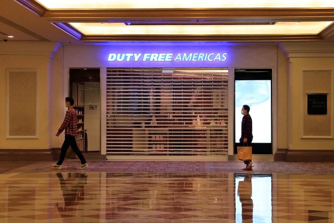 Stores closed at Venetian Macao Resort and Casino, Macau, China (RW)
