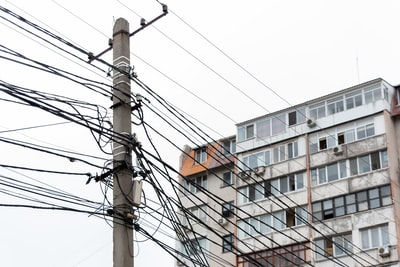 brown and white concrete building ukraine zoom background
