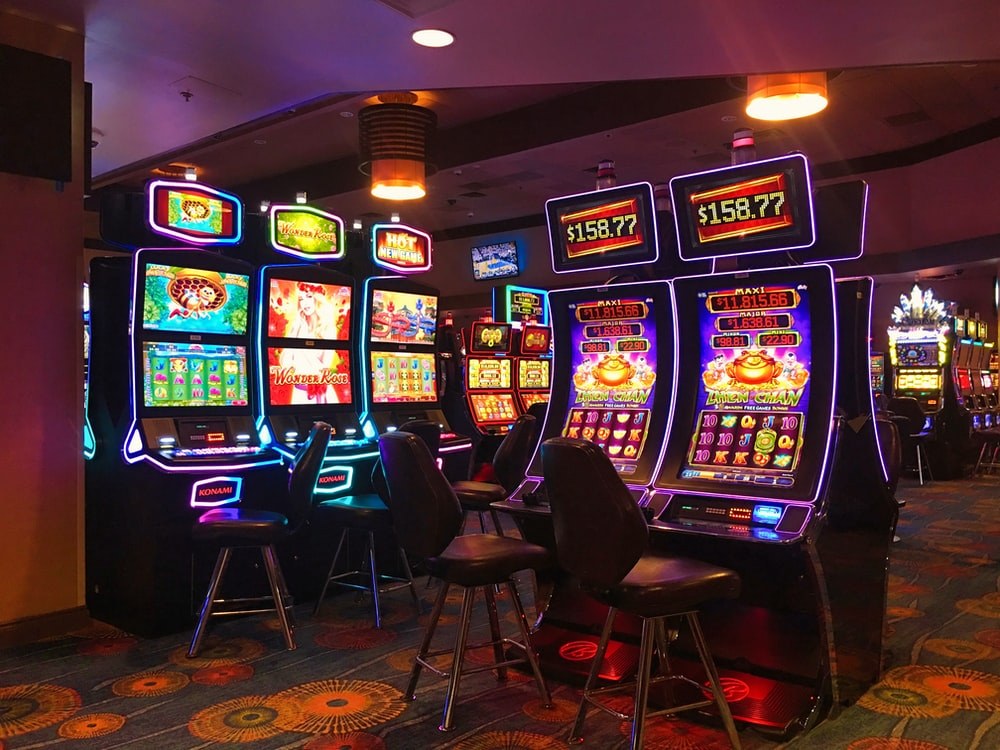 black and blue arcade game machine