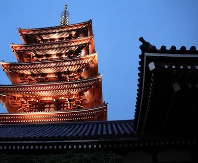 Asakusa temple at dawn