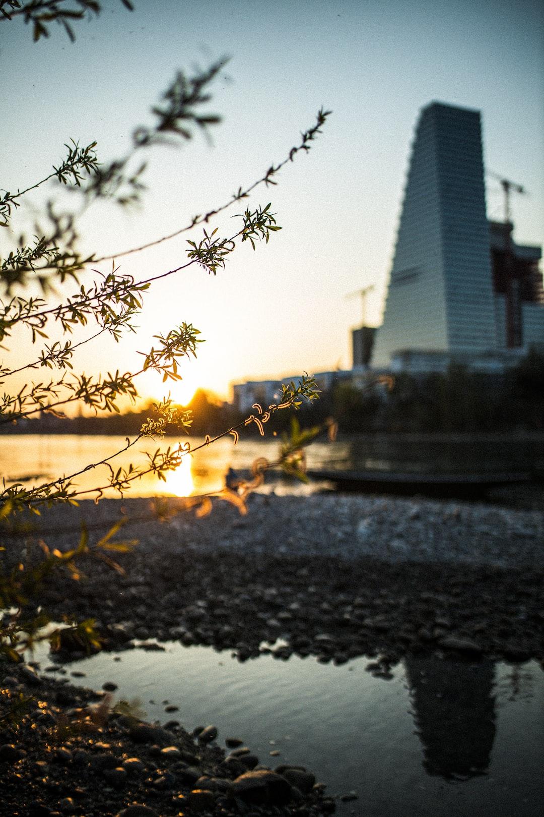 Basel at sunset
