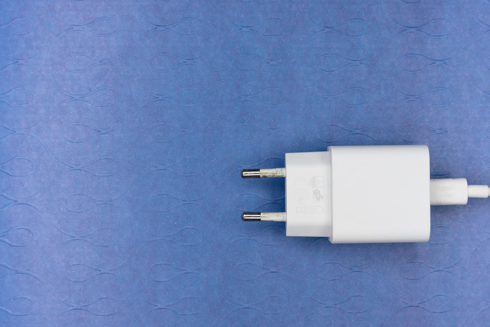 white and black usb cable
