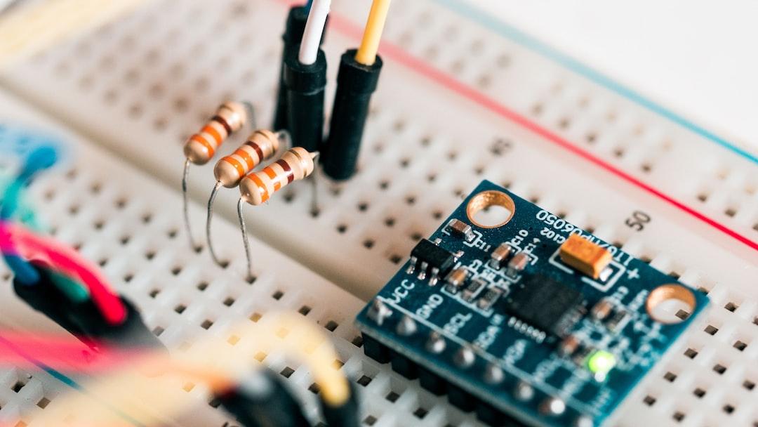 resistors and circuit board on breadboard