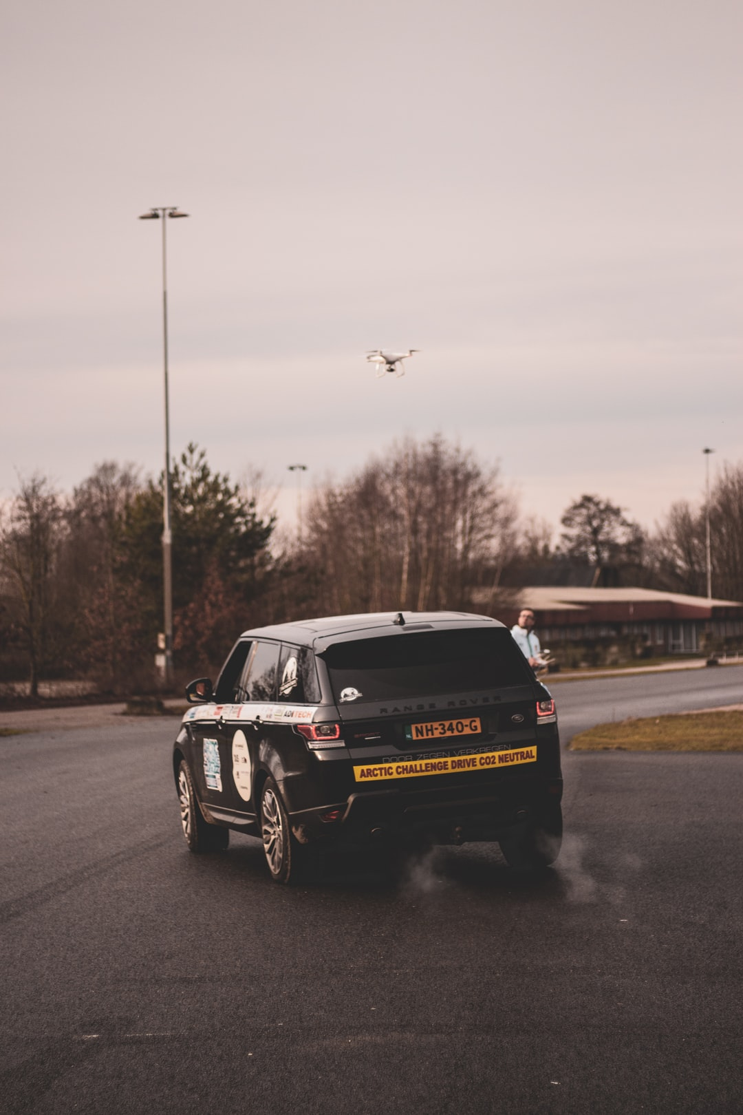 Range Rover Sport shot at the start of The Artic Challenge 2020