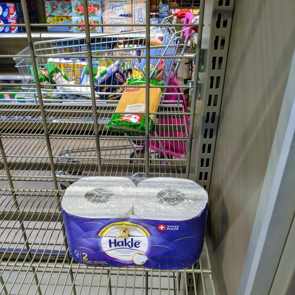 white tissue paper on shopping cart