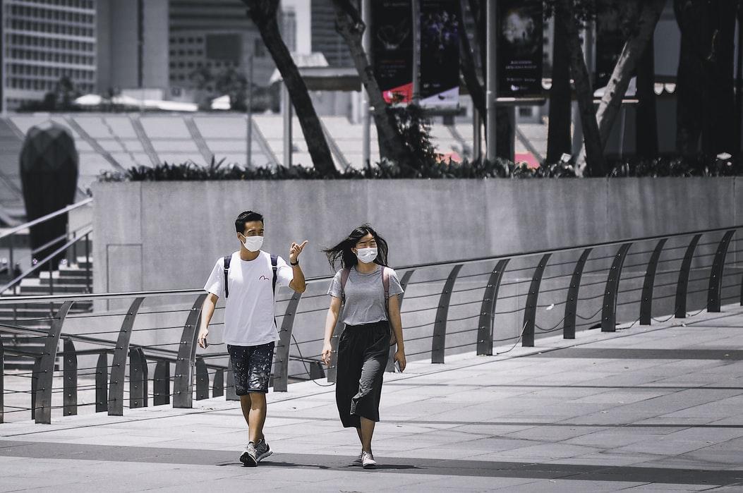 people walking in the Dubai streets