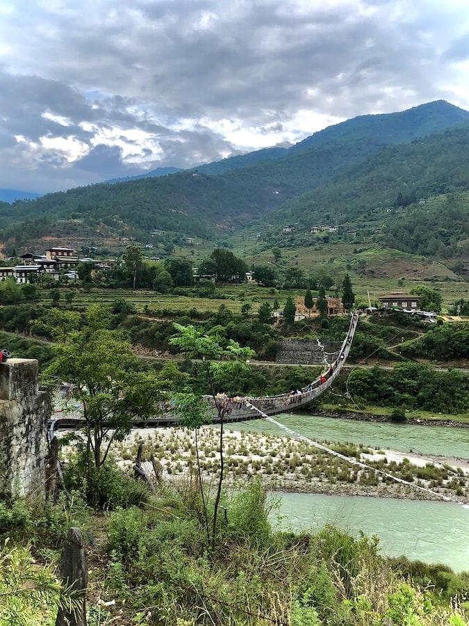 A lovely view of Bhutan