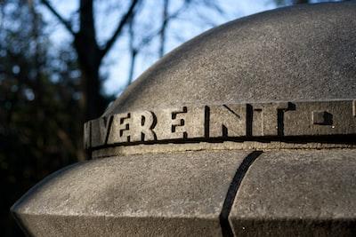 stone monument  at concentration camp Flossenbürg memorial site