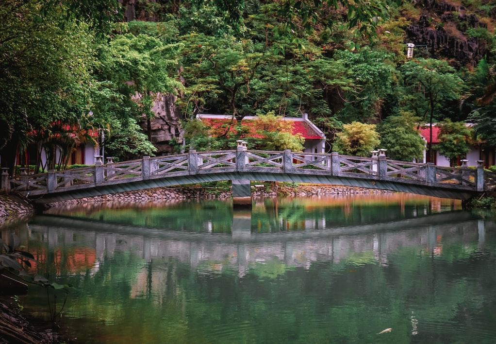 A bridge over water