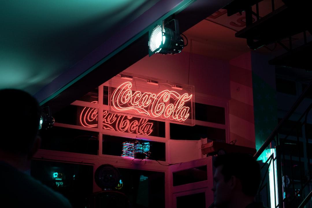 Coca Cola Neon sign in American Diner